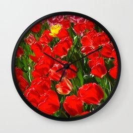 Tulips in Paris Wall Clock
