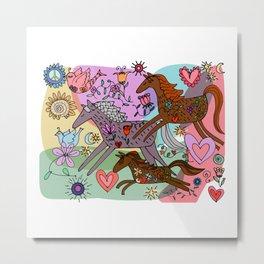 Three Prancing ponies Metal Print