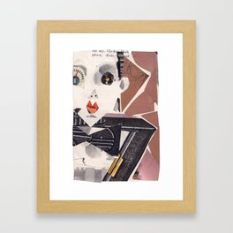 Klaus Nomi #PrideMonth Collage Portrait Framed Art Print