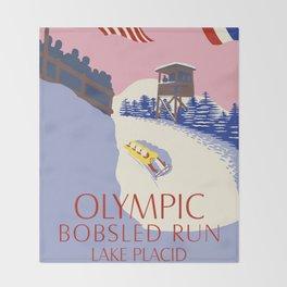 Lake Placid Olympic bobsled run Throw Blanket