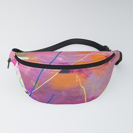 Painted Waste Paper Fanny Pack