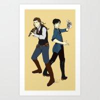bioshock Art Prints featuring Bioshock Infinite by Slythermint