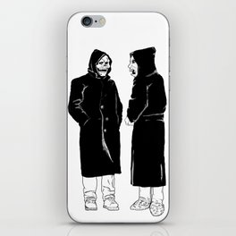 the devil and god iPhone Skin