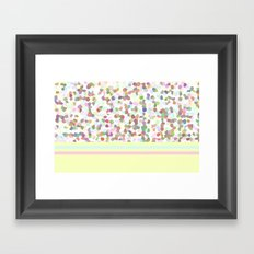 Lots of Dots Yellow Framed Art Print