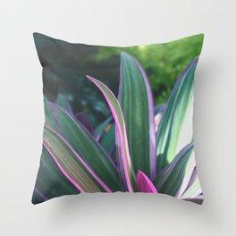 Macro Fuchsia Plant - Nature Photography Throw Pillow