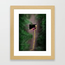 Let Down Your Hair Framed Art Print