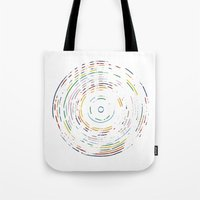 record Tote Bags featuring Rainbow Record by Project M