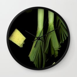 Leeks and Cheese Wall Clock