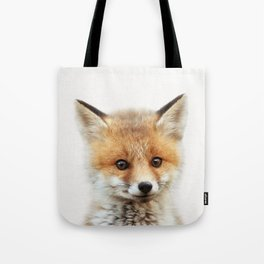 Baby Fox, Baby Animals Art Print By Synplus Tote Bag