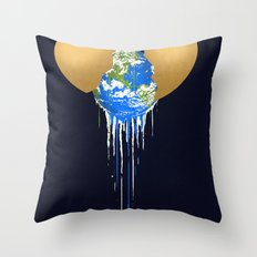 Melting Throw Pillow