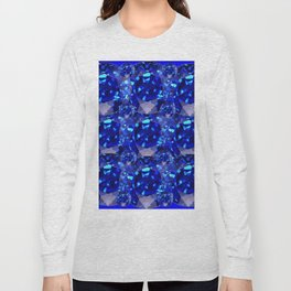 BLUE SAPPHIRES GEM BIRTHSTONE Long Sleeve T-shirt
