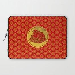 Three Legged Lucky Money Frog Feng-shui Laptop Sleeve