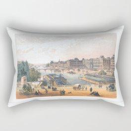 Paris art print Paris Decor office decoration vintage decor LE LOUVRE of Paris Rectangular Pillow