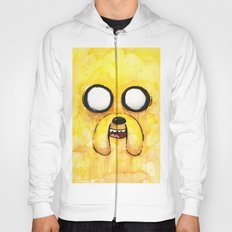 Jake Face Yellow Dog Cartoon Character Hoody