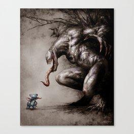 Stitch VS Venom Canvas Print
