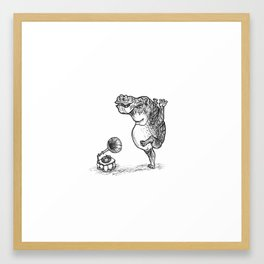 The Hippo Dances Framed Art Print
