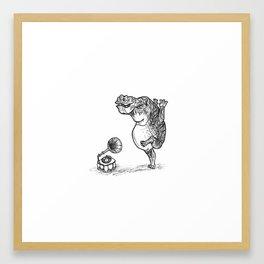 The Hippo Dances Framed Art Print