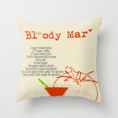 Bloody Mary Cocktail Throw Pillow