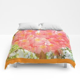 Mexico Blossom Pink & Yellow Flower Comforters
