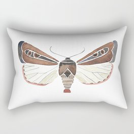 Brown Moth Rectangular Pillow