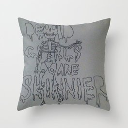 DEADGIRLS Throw Pillow