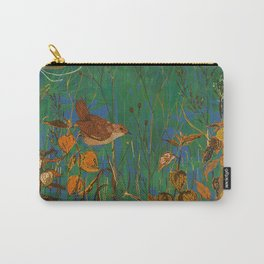 Winter Glimpses - Wren and Physalis Carry-All Pouch