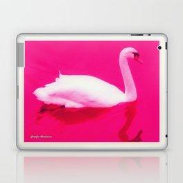 Pink Swan Laptop & iPad Skin