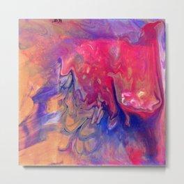 AcrylicFlow #1102 - Sunset Flow Metal Print