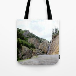 Drive Around the Curve onto a Shelf Above the Spectacular, but Frightening, Uncompahgre Gorge Tote Bag