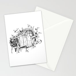 Wine in a barrel Stationery Cards