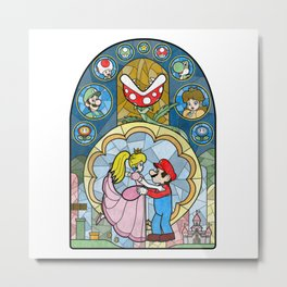 Plumber and the Peach Metal Print