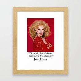 Joan Quote Framed Art Print