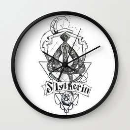 The Cunning House of Slytherin Wall Clock