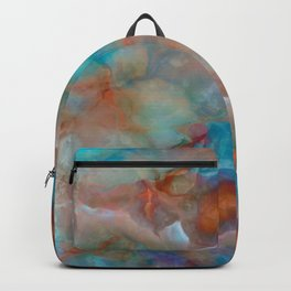 Colorful watercolor abstraction Backpack