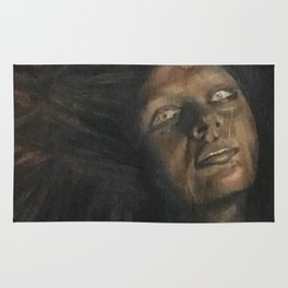 The Woman in Black Rug