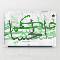 calligraphy iPad Cases featuring calligraphy by apostrophe