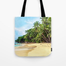 Tropical Beach - Landscape Nature Photography Tote Bag