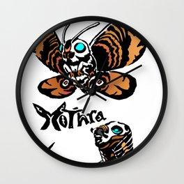 Mothra Kaiju Print Wall Clock