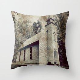 Church Print Throw Pillow