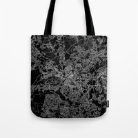 manchester Tote Bags featuring Manchester  by Line Line Lines