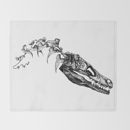 Jurassic Bloom - The Clever Girl Throw Blanket