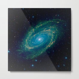 35. An Infrared View of the M81 Galaxy Metal Print