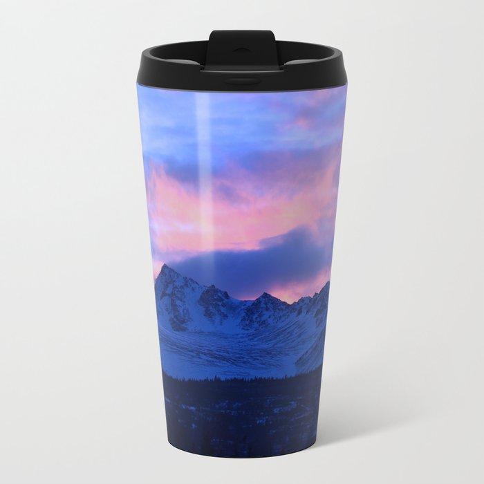 Serenity Rose Sunrise III Metal Travel Mug