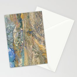 Enclosed Field with Peasant by Vincent van Gogh, 1889 Stationery Cards