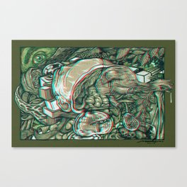 imaginations of mind 3D anaglyph Canvas Print