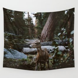Sequoia Forest Deer Wall Tapestry