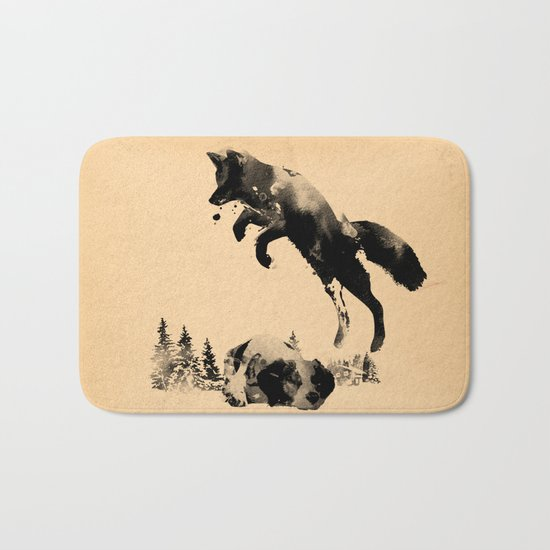 The quick brown fox jumps over the lazy dog Bath Mat