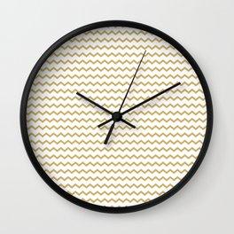 Golden Chevron Wall Clock