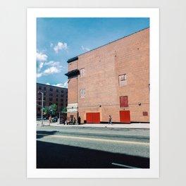Walking The Spanish Harlem New York Art Print