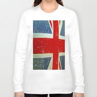 union jack Long Sleeve T-shirts featuring  Union jack Flag by  Alexia Miles photography